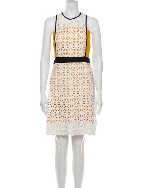 Msgm Colorblock Pattern Mini Dress