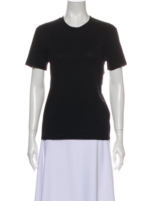 Msgm Crew Neck Short Sleeve T-Shirt Black