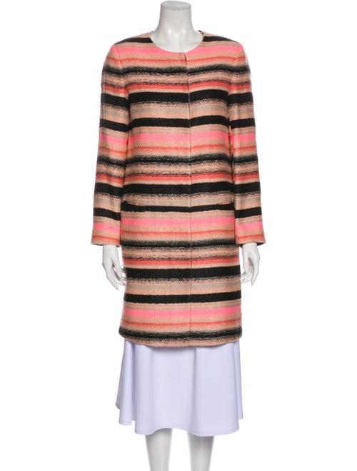 Msgm Striped Coat Black