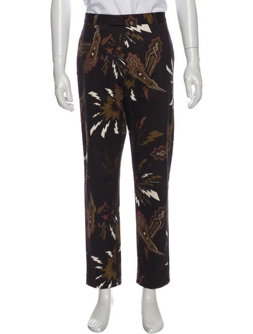 Msgm Printed Pants Brown