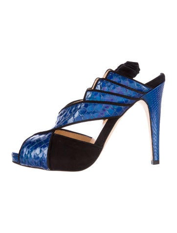 Tellier Holographic Python Sandals w/ Tags