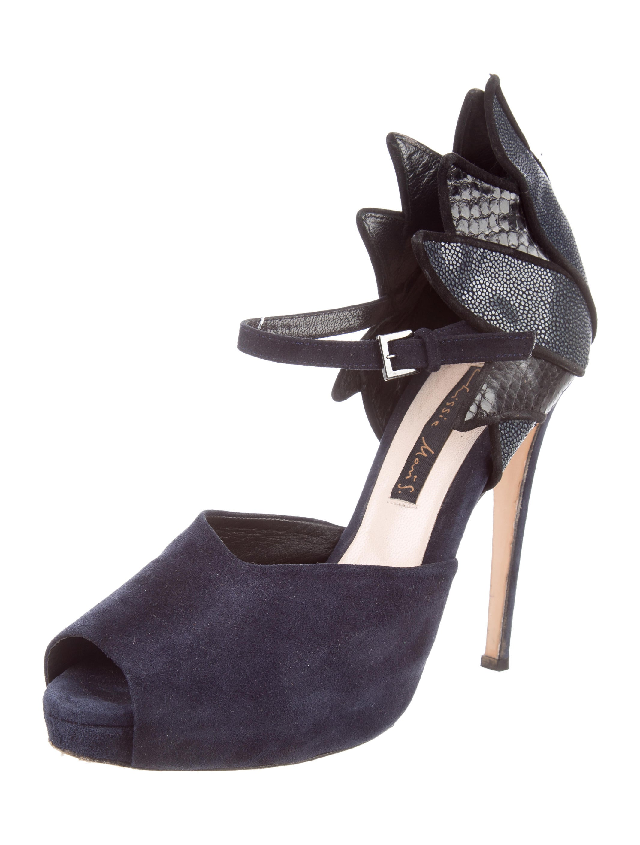 Chrissie Morris Stingray-Accented Slingback Sandals eastbay cheap price lVll50