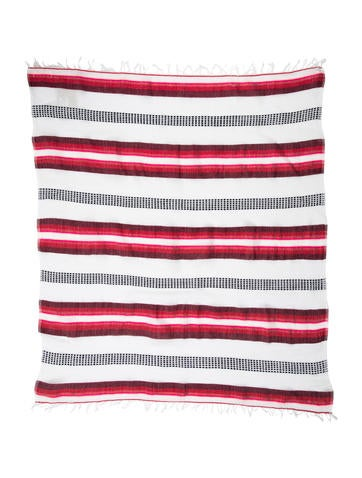 Lemlem Striped Fringe Scarf w/ Tags