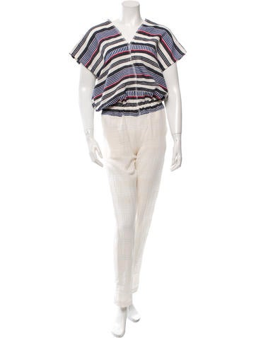 Lemlem Striped Sleeveless Jumpsuit w/ Tags None