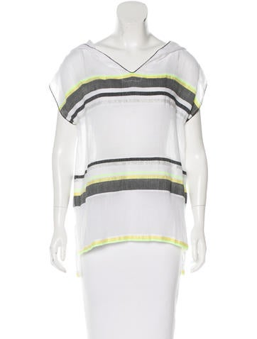 Lemlem Sheer Striped Tunic None