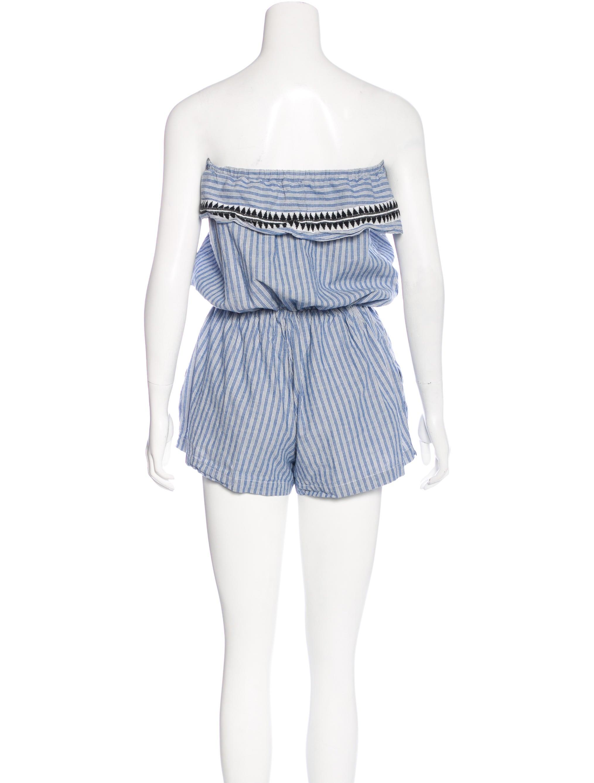 Lemlem Striped Strapless Romper - Clothing - W3L21130