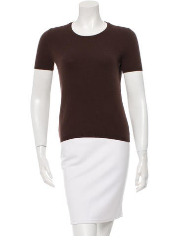 Malo Short Sleeve Cashmere Top None