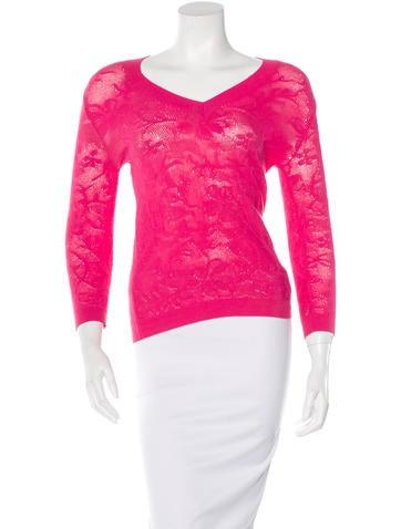 Malo Lace V- Neck Sweater None