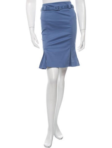 Malo Pleated Pencil Skirt None