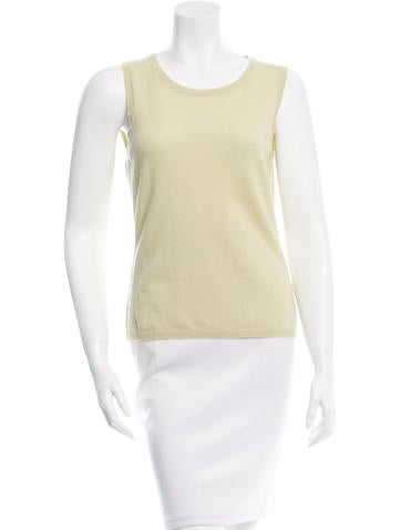 Malo Sleeveless Cashmere Top None