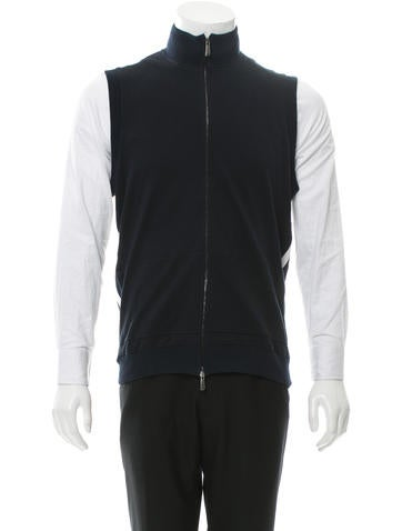 Malo Rib Knit-Trimmed Zip-Up Vest None