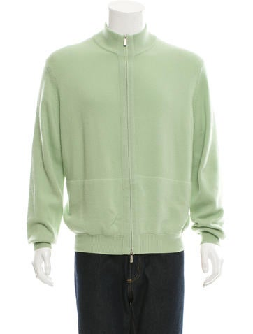 Malo Cashmere Zip-Up Sweater None