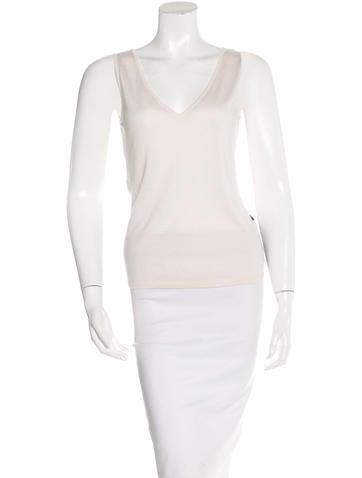 Malo Cashmere & Silk-Blend Sleeveless Top None