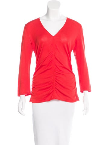 Malo Three-Quarter Sleeve Knit Top None