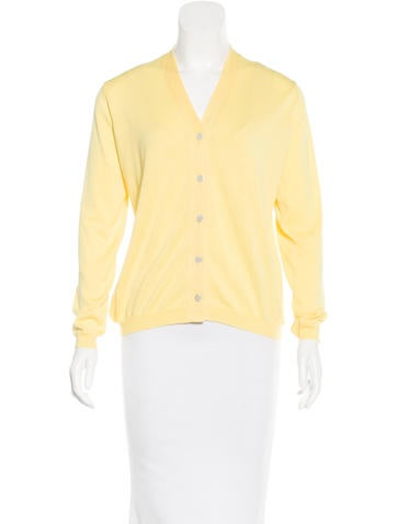 Malo V-Neck Button-Up Cardigan w/ Tags None