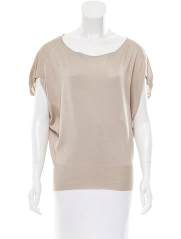 Malo Silk Knit Top None