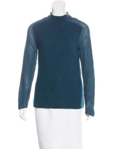 Malo Cashmere Mock Neck Sweater None