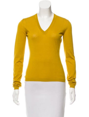 Malo Cashmere V-Neck Top None