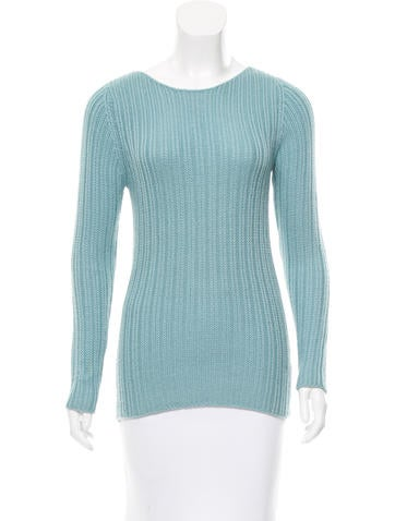 Malo Cashmere Rib Knit Sweater None