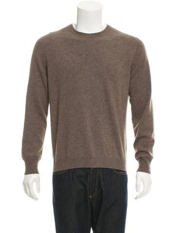 Malo Crew Neck Rib Knit-Trimmed Sweater None
