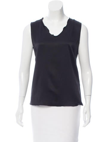 Malo Silk Sleeveless Top None