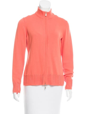 Malo Zip-Up Long Sleeve Sweater None