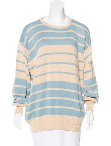 Malo Striped Knit Sweater None