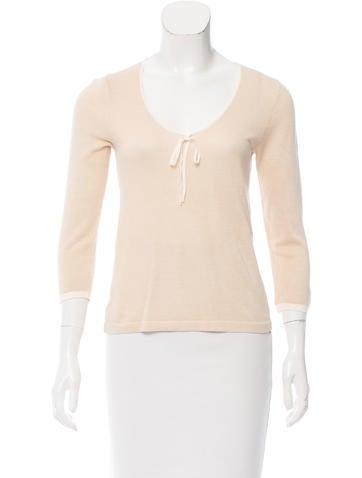 Malo Silk-Blend Knit Top None