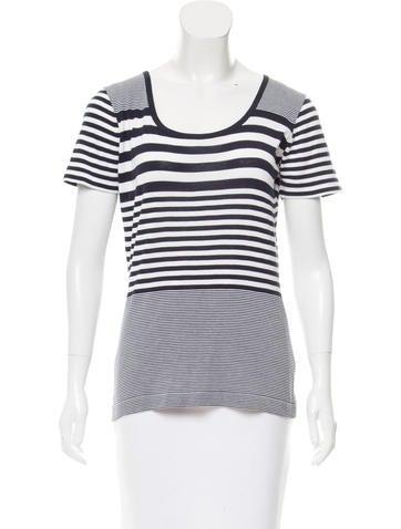 Malo Striped Knit Top None