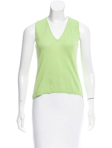 Malo Sleeveless V-Neck Top None