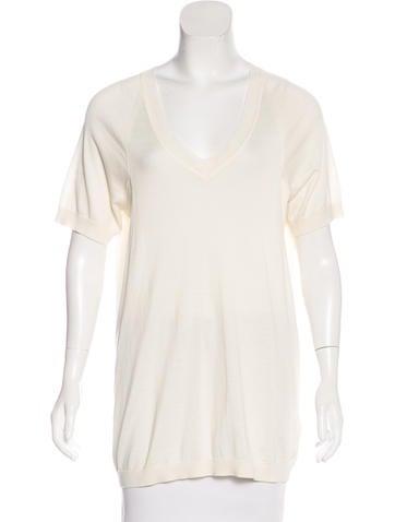 Malo Silk-Blend Short Sleeve Top None