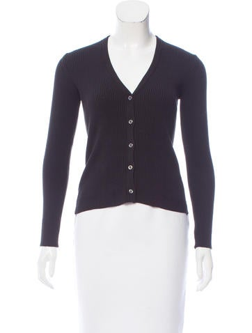 Malo Ribbed V-Neck Cardigan None