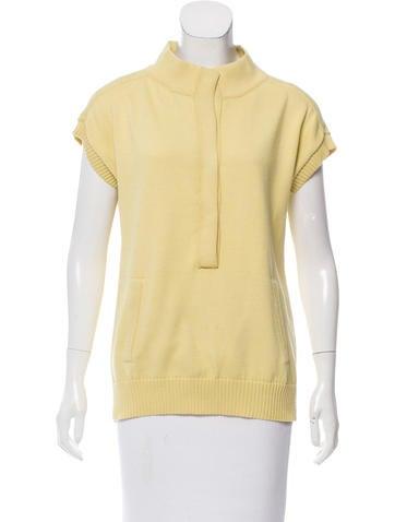 Malo Mock Neck Short Sleeve Sweater None