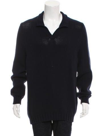Malo Mock Neck Rib Knit Sweater None