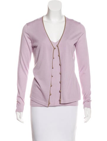 Malo Cashmere & Silk Cardigan Set None