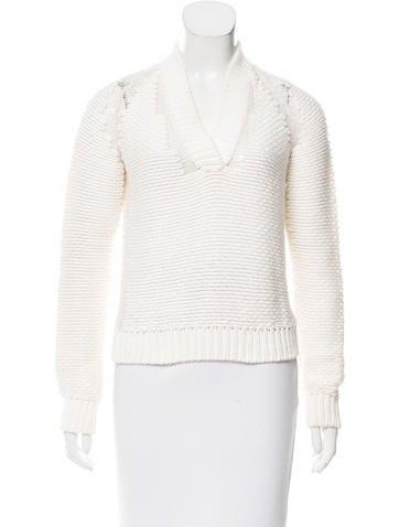 Malo Shawl Collar Cashmere-Blend Sweater None