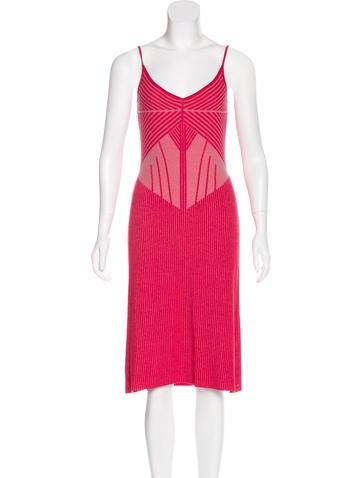 Malo Sleeveless Intarsia Dress None