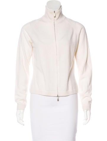 Malo Cashmere Zip-Up Sweater None