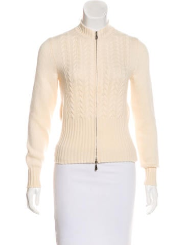 Malo Cashmere Zip-Up Cardigan None