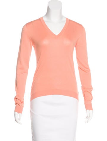 Malo V-Neck Knit Top None