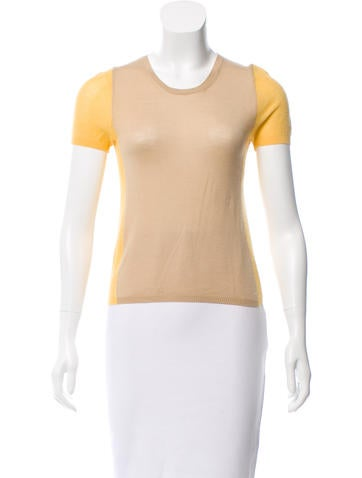 Malo Colorblock Cashmere Top None