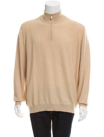 Malo Cashmere Half-Zip Sweater None