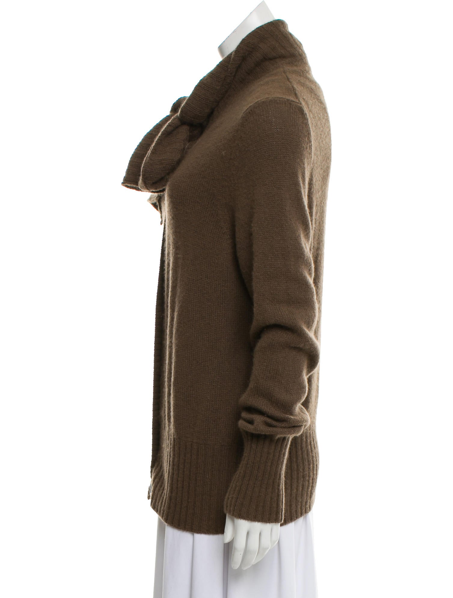 Malo Men/'s Cashmere Silk Gray 1//2 Zip Sweater US M IT 50