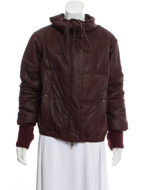 Ilaria Nistri Leather Puffer Jacket w/ Tags wool