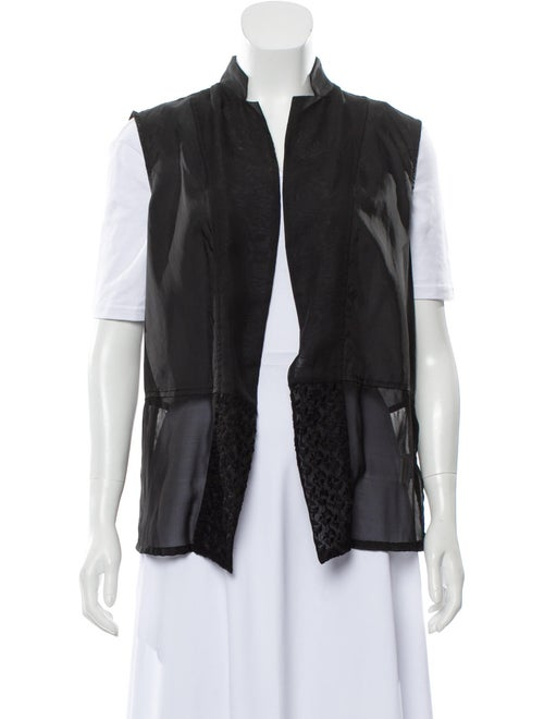 Pas De Calais Sleeveless Light-Weight Cardigan Bla