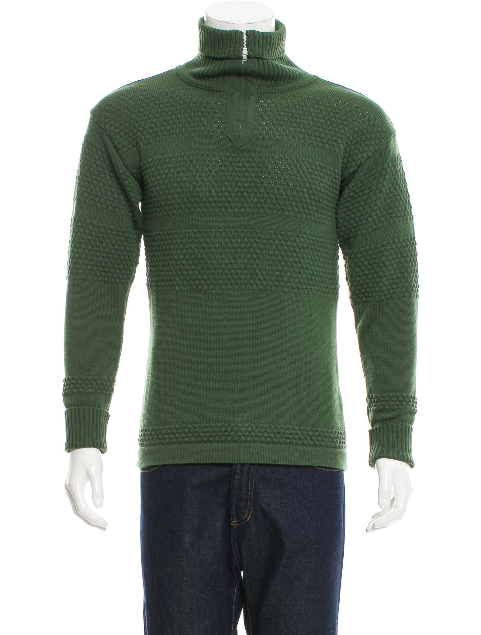 S.N.S. Herning Wool Half-Zip Sweater - Clothing - W3S20058 | The RealReal