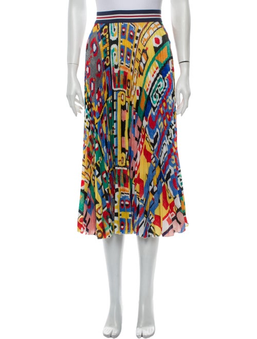 Stella Jean Printed Midi Length Skirt Yellow