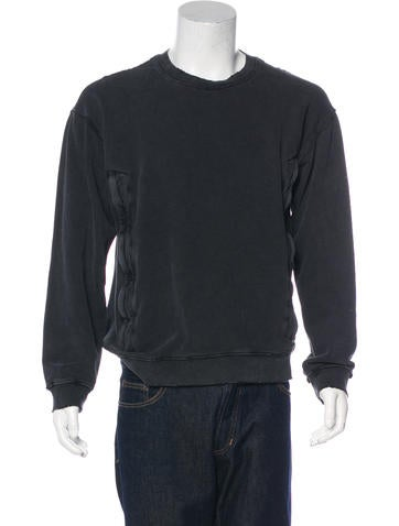 RtA Denim Distressed Sweatshirt None
