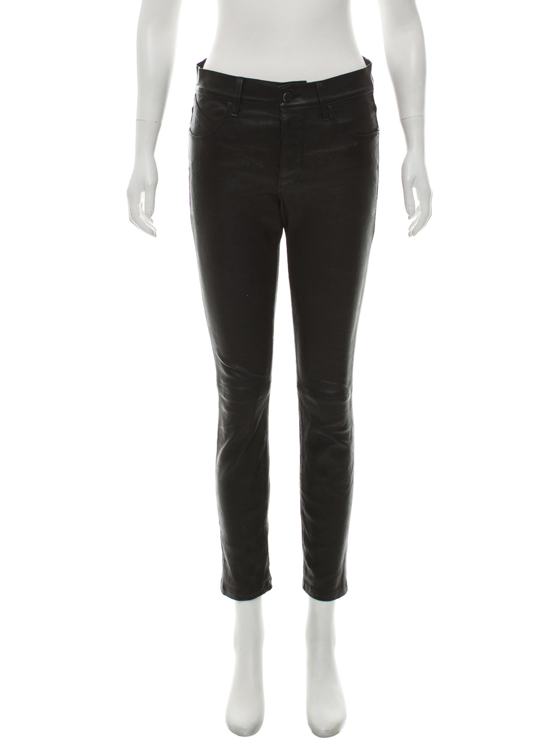fine quality look good shoes sale best website RtA Denim Mid-Rise Leather Pants