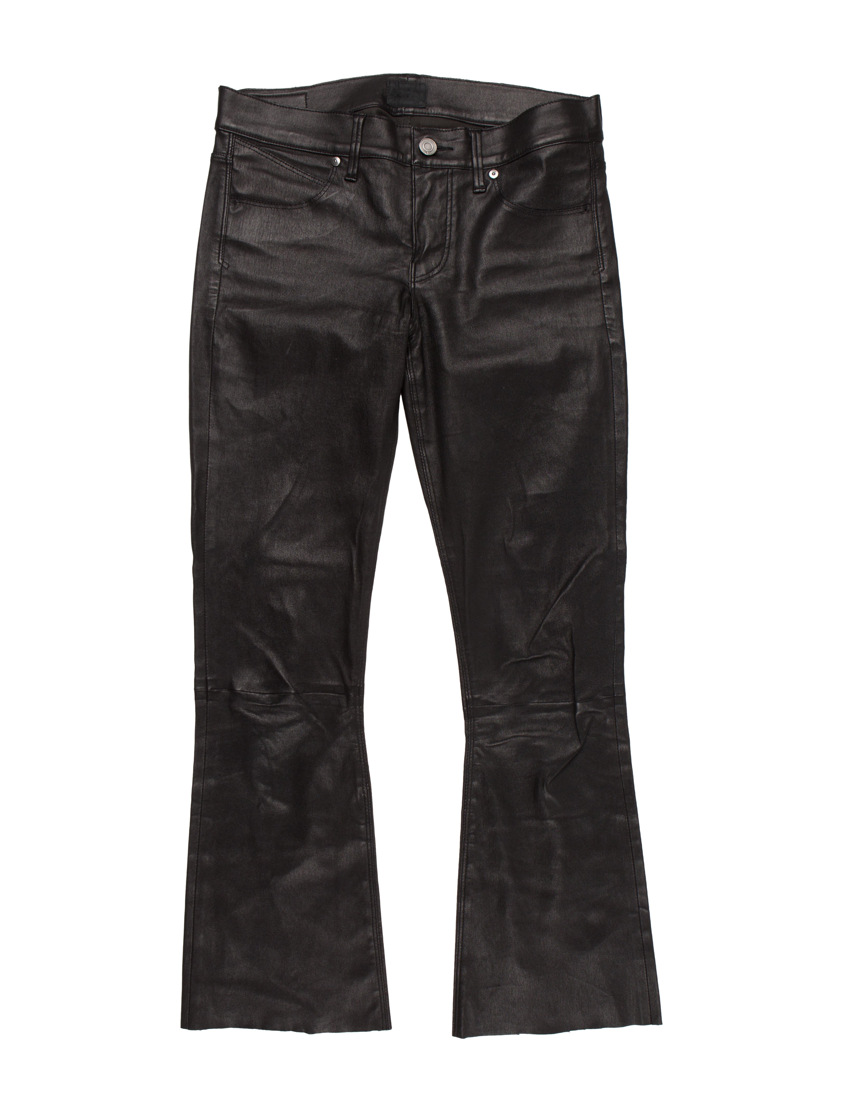 best selection of limited style high fashion Mid-Rise Leather Pants